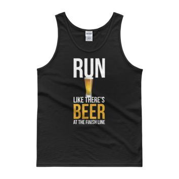 Run Like There's Beer At The Finish Line - Tank top
