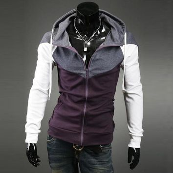 Hoodies Hot Sale Men's Fashion Tops Men Mosaic Pullover Casual Jacket [6528674883]