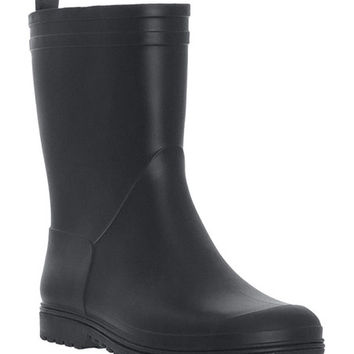 Capelli New York Black Matte Rain Boot | zulily