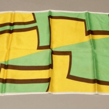 Vintage Scarf Acetate Twill Color Block