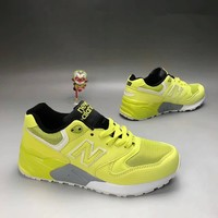 """New Balance 580"" Sport Casual Unisex N Words Scrub Leather Surface Retro Sneakers Couple Running Shoes"