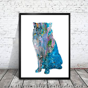 Alaskan Malamute 3 Watercolor Print, Alaskan Malamute art, watercolor painting, Alaskan Malamute painting, dog art, Malamute Illustration