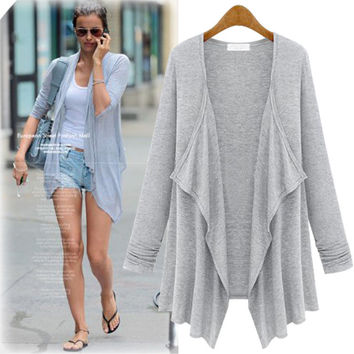 Ladies Women's Fashion Long Sleeve Casual Jacket [8077547073]