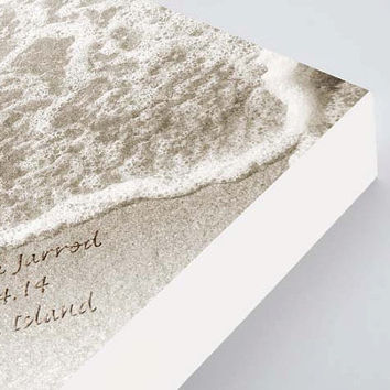 Name in the Sand Print, Personalized Wedding Gift, Unique Wedding Gift, Beach Wedding Gift, Wedding Print, Ready to Hang Wedding Art