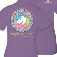 "Simply Southern Youth ""Unicorn"" Tee - Purple"