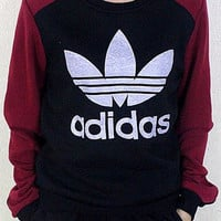 Adidas: ladies with cashmere Crewneck casual stitching thickened turtleneck jacket