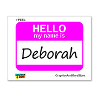 Deborah Hello My Name Is Sticker