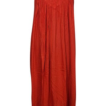 Mogul Boho Dress Embroidered Not Fade Away Summer Hot Red Sexy Tunic Summer Casual Dress Large: Amazon.ca: Clothing & Accessories