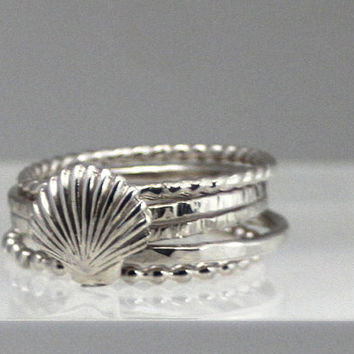 silver ring, silver shell ring, sterling silver shell ring, shell ring, bridesmaids, mother, daughter, eco friendly, novelty, statement