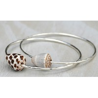 Sterling Silver Bracelet with Shell