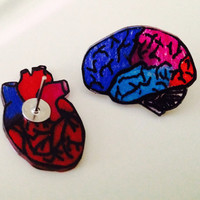 head & heart: handmade post earrings