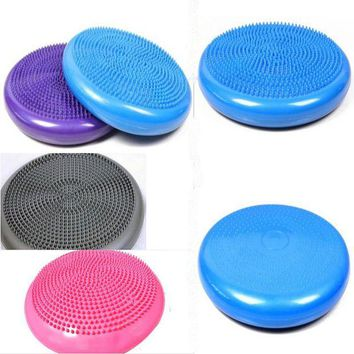 DCCK1IN 2016 free shipping new high quality fit core balance disc soft inflatable yoga massage ball pad cushion balancing wheel training