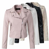 PU Leather Jacket Women Winter And Autumn New Fashion Coat