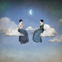 Wind, Clouds and Tea Art Print by Christian Schloe