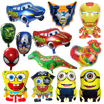 1pc Avengers foil Balloons Super Hero Baby Toy Children Gift Birthday/Party/Wedding Decor Cartoon Car Foil Balloons Supply