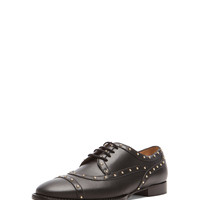 Dotcom Lace Up Dress Shoes in Black & Gold