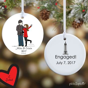 Empire State Building Engagement Ornament