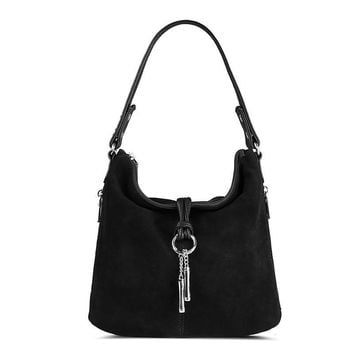 Hobo Bag : Split Leather Hobo Bag