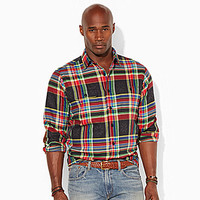 Polo Ralph Lauren Big & Tall Plaid Jacquard Workshirt - Black/Red