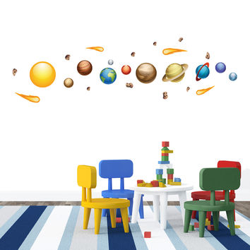 Nursery wall decals - Solar System