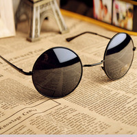 Thin Bar Round Sunglasses e95