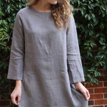 Long Sleeve Bubble Dress - Ore - by Bryn Walker