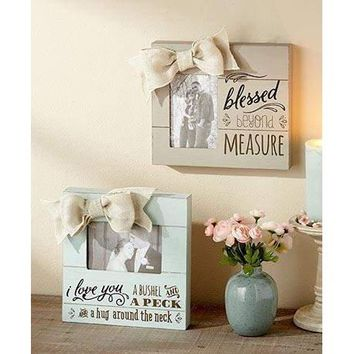 Wooden Bushel and a Peck Plank Picture Frame