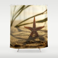 Starfish Still life on the beach Shower Curtain by tanjariedel