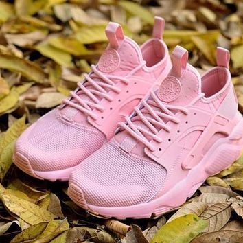 Best Online Sale Nike Air Huarache 4 Rainbow Ultra Breathe Women Pink Running Sport Casual Shoes Sneakers - 928