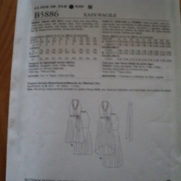 Butterick Sewing pattern B5886 ladies hi-low dress
