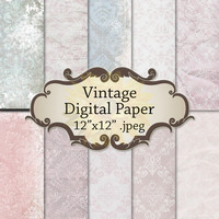 Digital Vintage rustic Paper Set Vintage Background, Instant Download