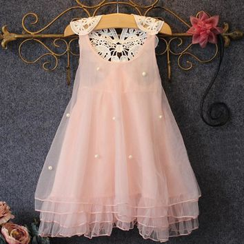 Birthday Dresses For Baby Girl Clothes Summer Lace Flower Tutu Princess Kids Dresses For Girls Kid Clothes Beautiful Girls Dress