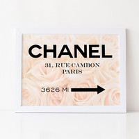 COCO CHANEL PRINT,Fashion Wall Art,Printable Art,Friends Gift,Chanel Quote,Home Decor,Bedroom Wall Art,Girls Room Decor,Office Wall Art