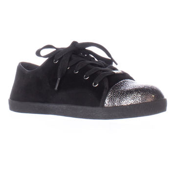 Delman Magie Low Top Fashion Sneakers - Black