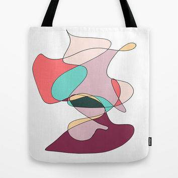 Abstract 1 (white) Tote Bag by DuckyB (Brandi)