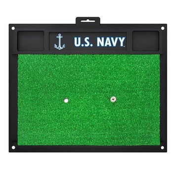 US Navy Armed Forces Golf Hitting Mat (20in L x 17in W)