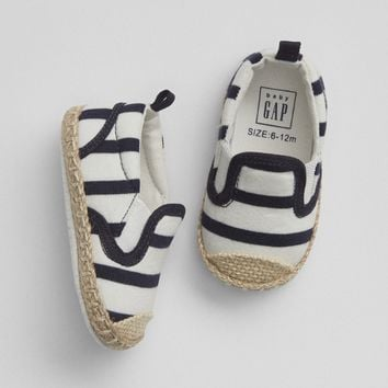 Stripe Espadrille Slip-On Shoes | Gap