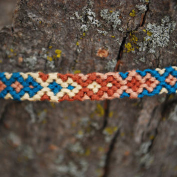 Brown & Aqua Diamond Friendship Bracelet