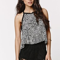 LA Hearts Crochet Trim Goddess Tank