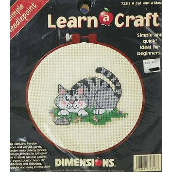 A Cat and a Mouse - Needlepoint Kit - Dimensions