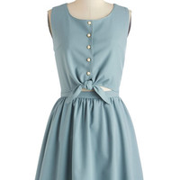 ModCloth Short Sleeveless A-line Eucalyptus Calypso Dress