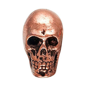 Metal Skull Drawer Dresser Cupboard Pull Knob (Antique Copper)