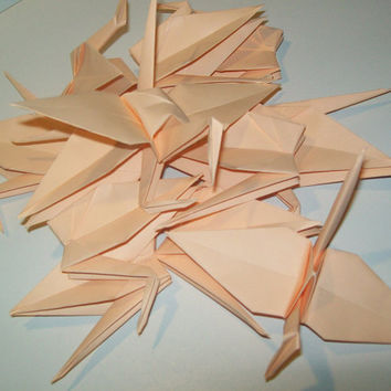 Wedding origami crane decor, Set of 100 peach origami crane for wedding, wedding decor crane, origami crane, origami peach crane, wedding
