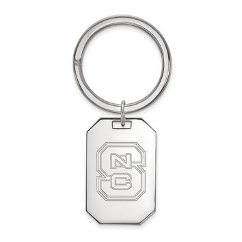 NCAA Sterling Silver North Carolina State Logo Key Chain