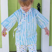 KIMONO OUTFIT in Birch Forest - pajamas playwear sizes 0 through 3T - boys or girls
