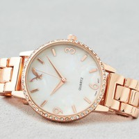 AEO Women's Rose Gold Bezel Watch (Rose Gold)