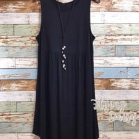 Black Sleeveless Base Dress