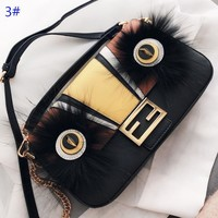 Fendi New fashion eye leather shoulder bag women crossbody bag 3#