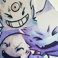 Ghost Pokemon Watercolor Prints