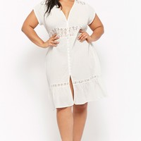 Plus Size Button-Front Dress